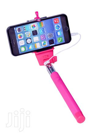 Wired Selfie Stick-pink   Accessories for Mobile Phones & Tablets for sale in Dar es Salaam, Kinondoni