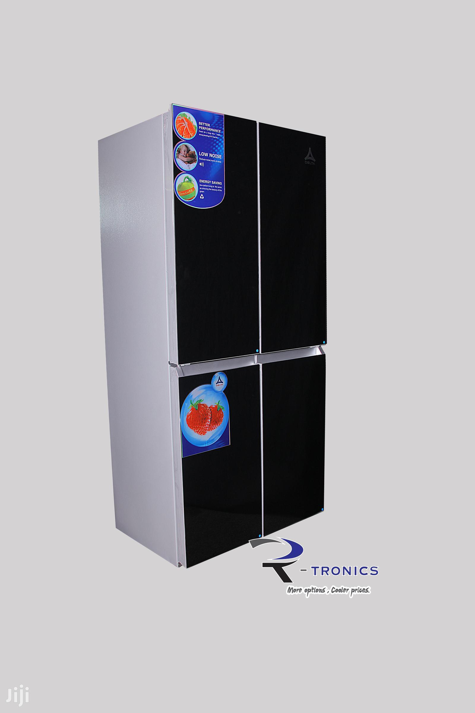 Delta Side By Side 4 Doors 406L Refrigerator – Black