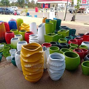 Tower Twist Fibreglass Flower Pot | Garden for sale in Dar es Salaam, Ilala