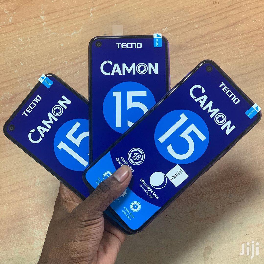 New Tecno Camon 15 64 GB Blue | Mobile Phones for sale in Ilala, Dar es Salaam, Tanzania