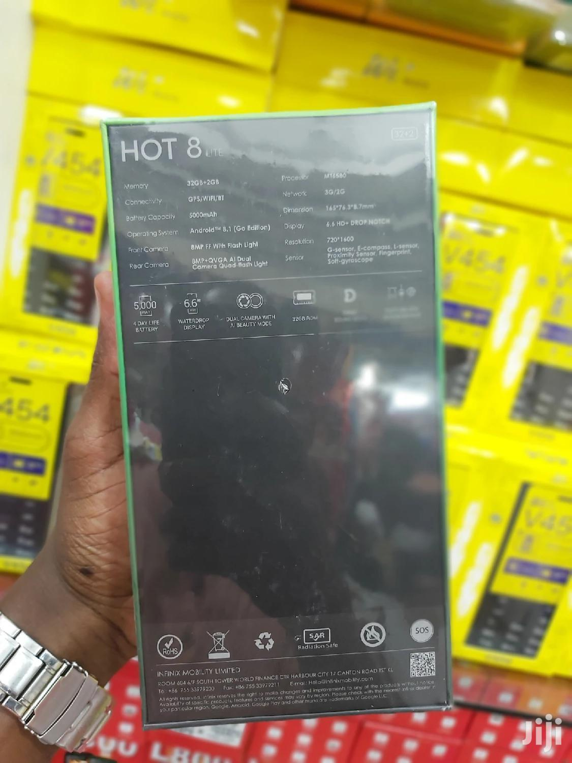 New Infinix Hot 8 Lite 32 GB Black | Mobile Phones for sale in Ilala, Dar es Salaam, Tanzania