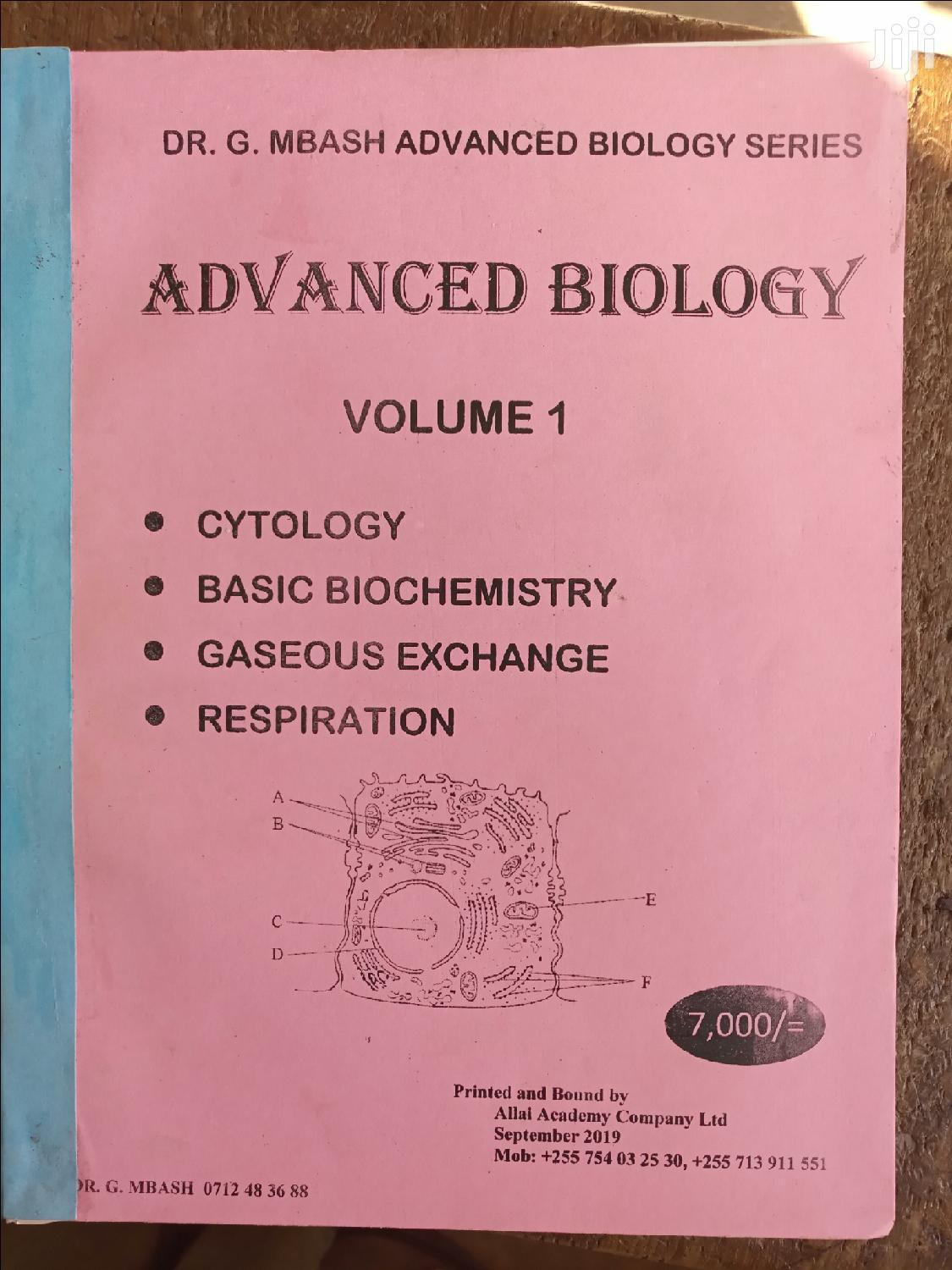 Archive: Advanced Level Bioloy By G.MBASHA