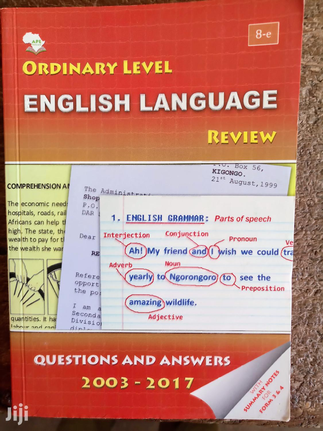 Form Four English Review