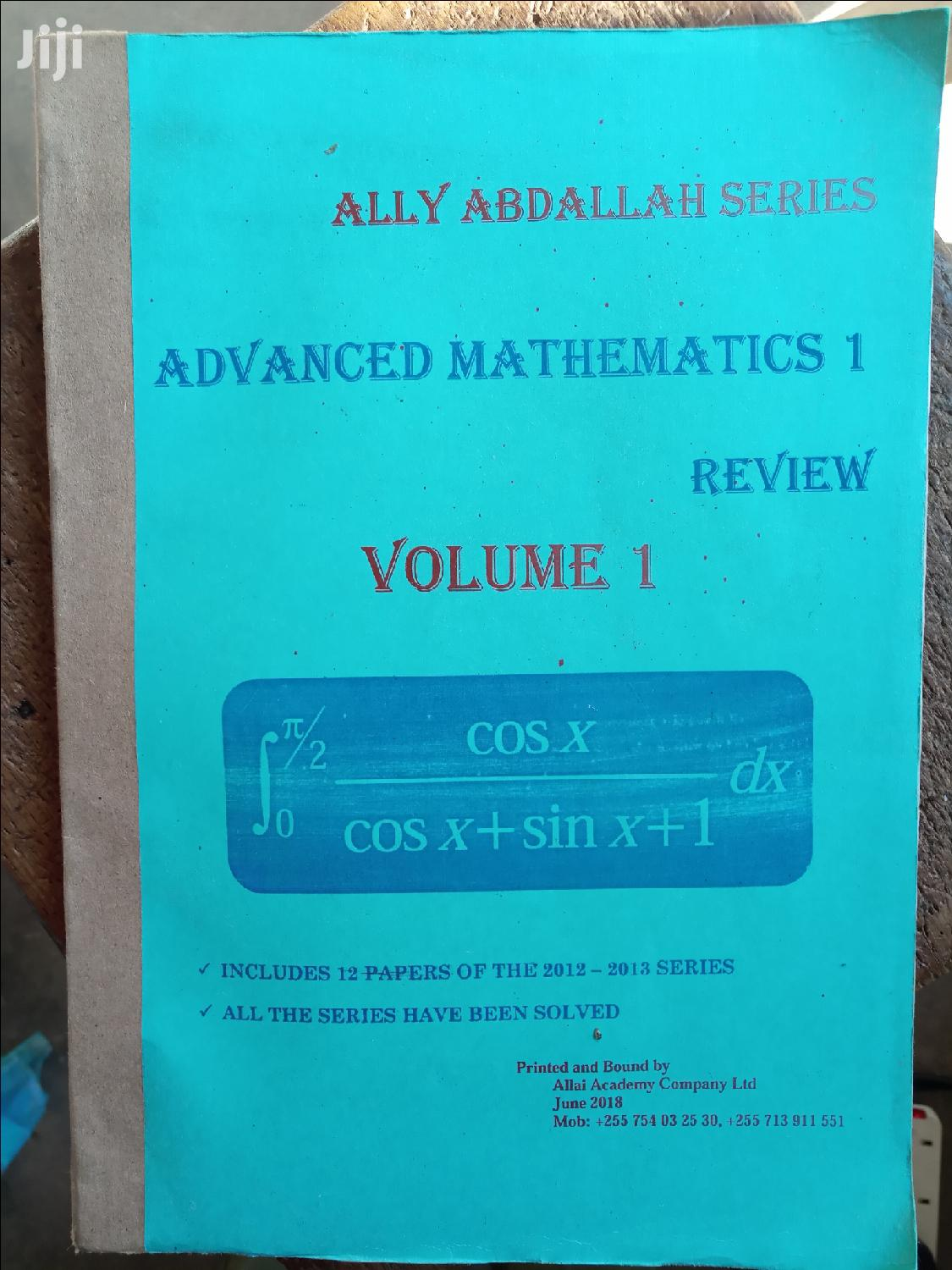 Mathematics Paper 1 Review By Ally Abdallah