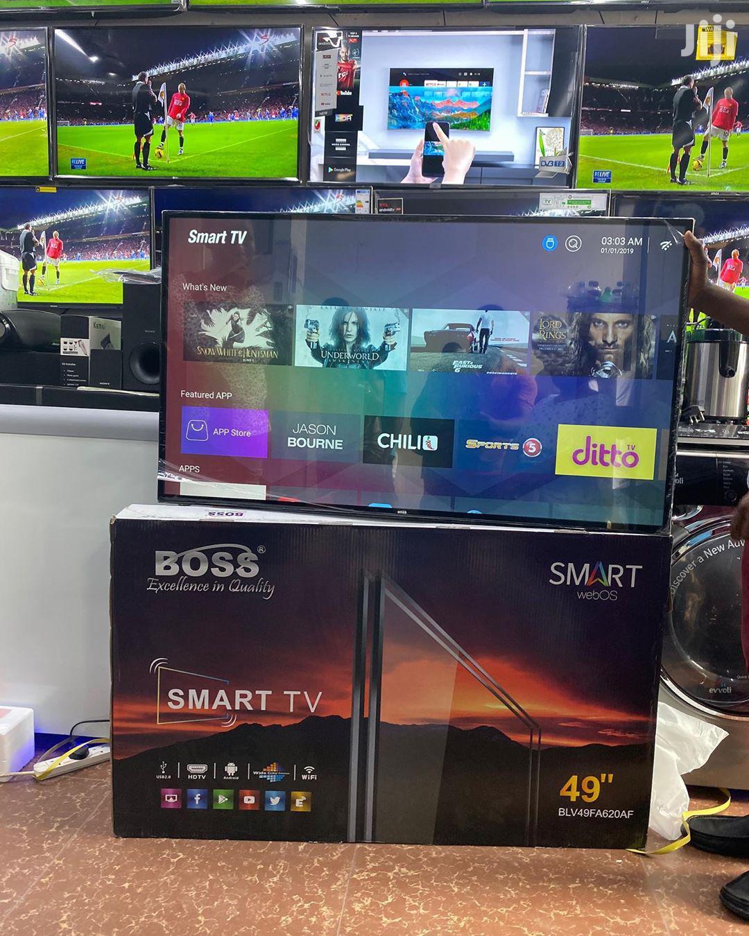 Boss Smart Uhd TV 49 Inches   TV & DVD Equipment for sale in Ilala, Dar es Salaam, Tanzania