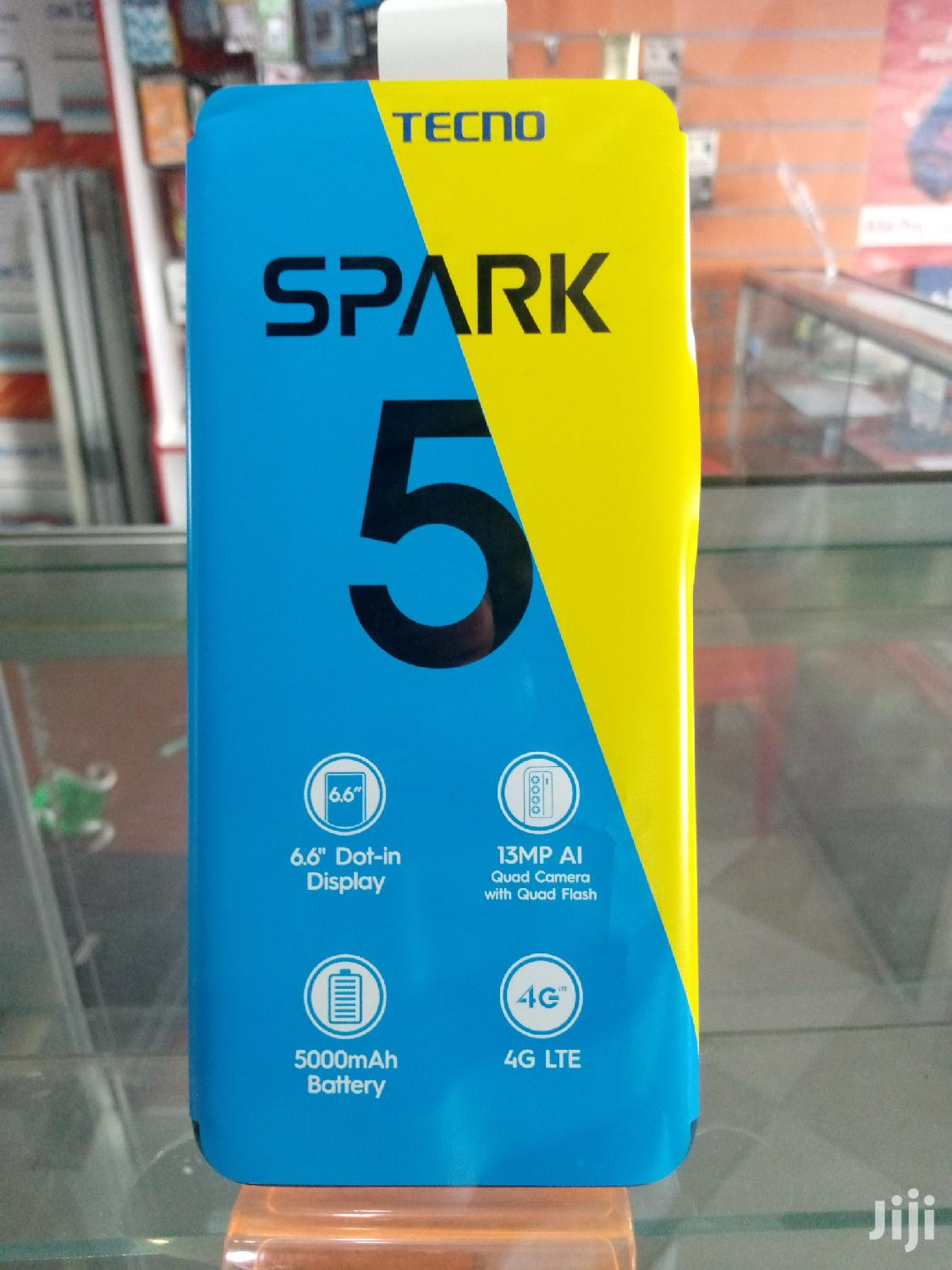 New Tecno Spark 16 GB Black | Mobile Phones for sale in Moshi Urban, Kilimanjaro Region, Tanzania