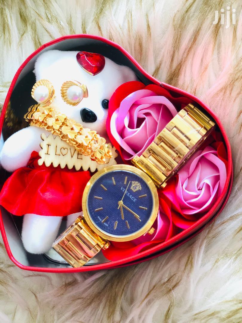 Set Of Watch+Bracelet+Earrings+Flowers+Doll | Watches for sale in Kinondoni, Dar es Salaam, Tanzania