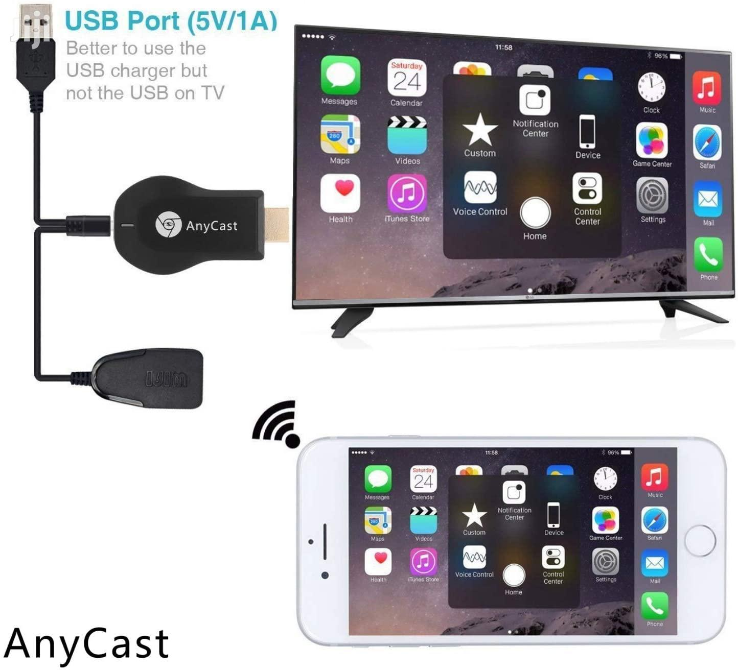 Anycast Wifi Dongle For Smartphones Chromecast | Accessories & Supplies for Electronics for sale in Ilala, Dar es Salaam, Tanzania