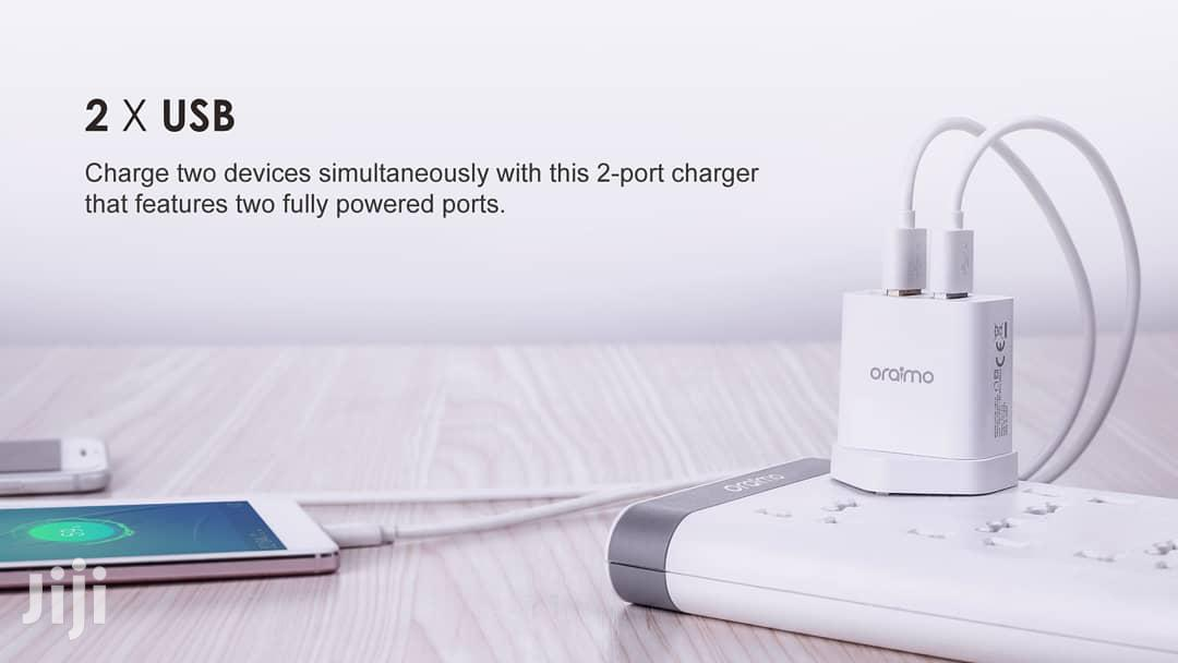 Oraimo 2 USB UK Charger Firely OCW-U61D | Accessories for Mobile Phones & Tablets for sale in Ilala, Dar es Salaam, Tanzania