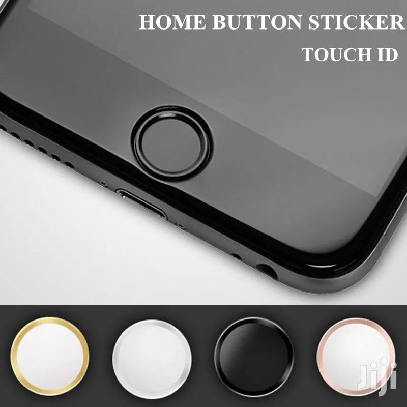 Touch ID Metal Home Button Sticker for iPhone