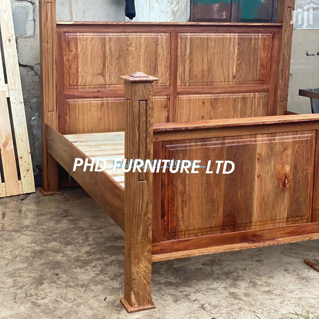 Bed 6X6 Mninga Wood | Furniture for sale in Kinondoni, Dar es Salaam, Tanzania
