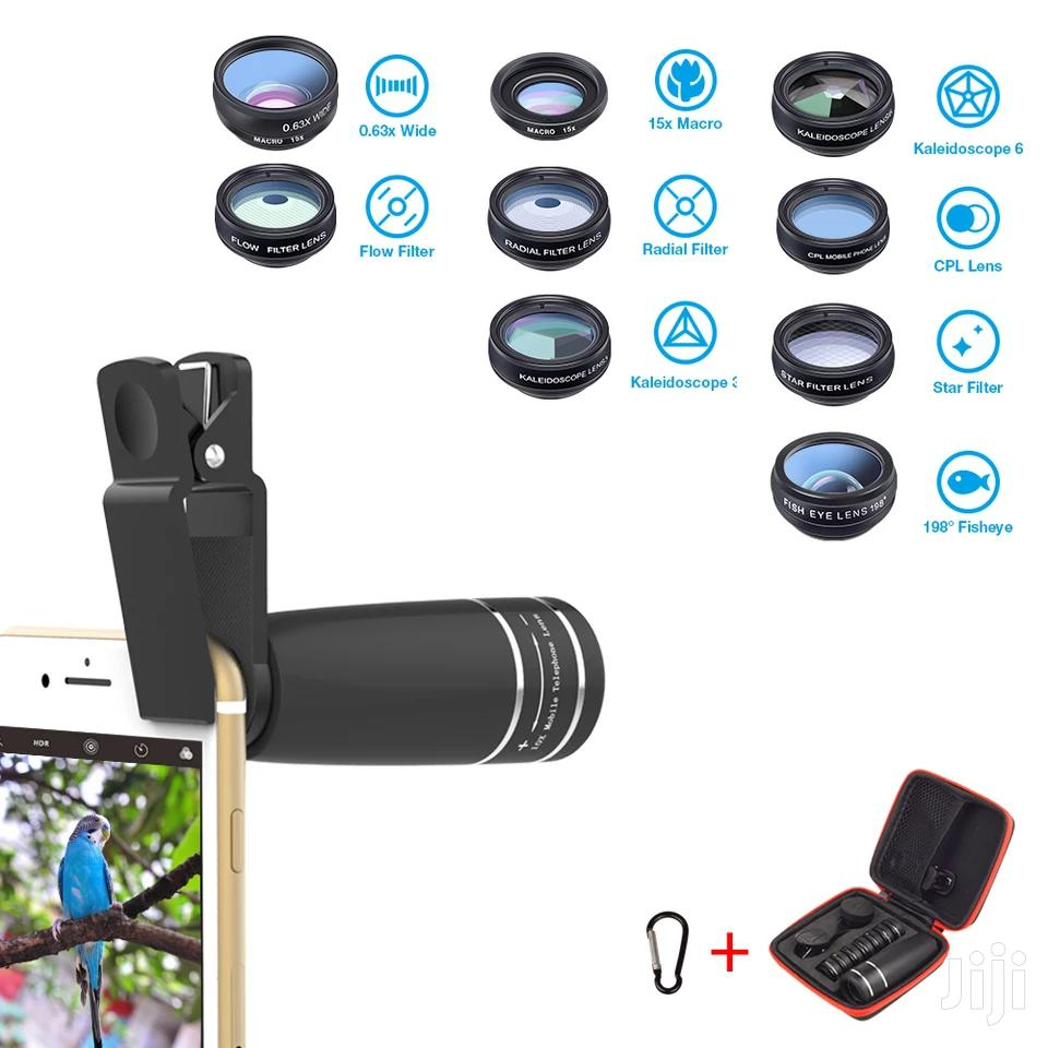 1 Set Lens 10 In 1 Phone Camera Lens Kit Fish Eye Wide | Accessories for Mobile Phones & Tablets for sale in Ilala, Dar es Salaam, Tanzania