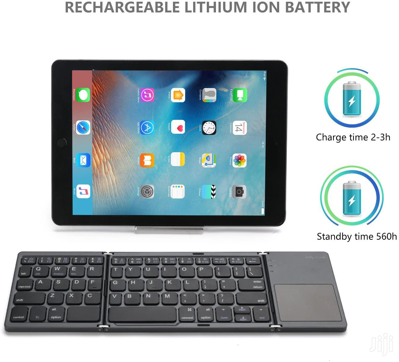 Foldable Bluetooth Keyboard With Touchpad - B033 | Accessories for Mobile Phones & Tablets for sale in Ilala, Dar es Salaam, Tanzania