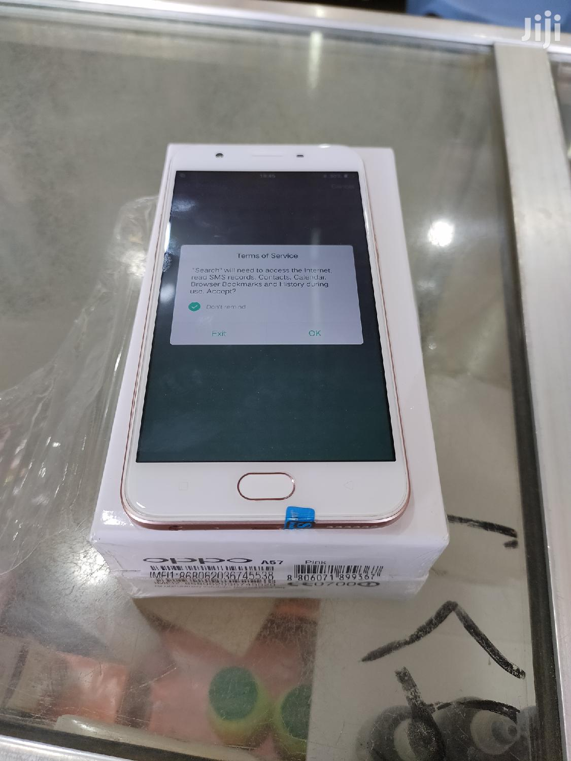 New Oppo A57 32 GB Gold   Mobile Phones for sale in Mbeya City, Mbeya Region, Tanzania