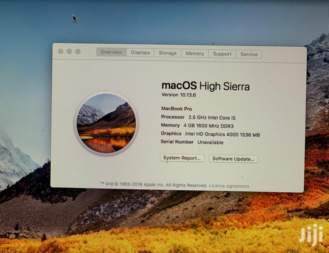 Laptop Apple MacBook Pro 4GB Intel Core i5 500GB | Laptops & Computers for sale in Arusha, Arusha Region, Tanzania