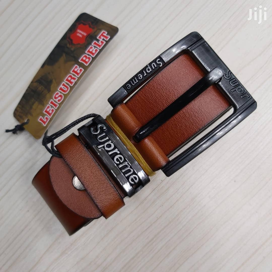Fashion Men's Leather Belt | Clothing Accessories for sale in Kinondoni, Dar es Salaam, Tanzania