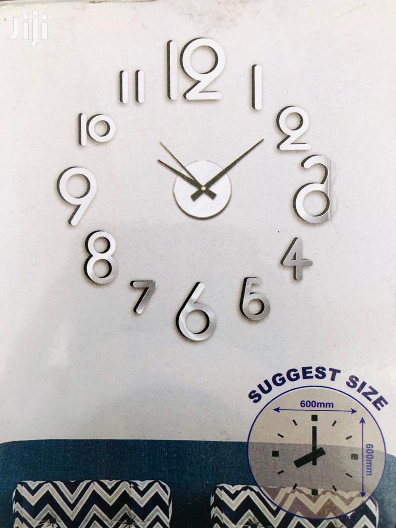 Large Wall Clocks 3D Diy Acrylic | Home Accessories for sale in Kinondoni, Dar es Salaam, Tanzania