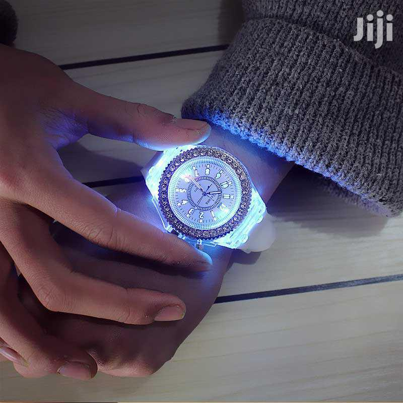 Led Flash Luminous Watch Personality Woman Men's Watche | Watches for sale in Ilala, Dar es Salaam, Tanzania