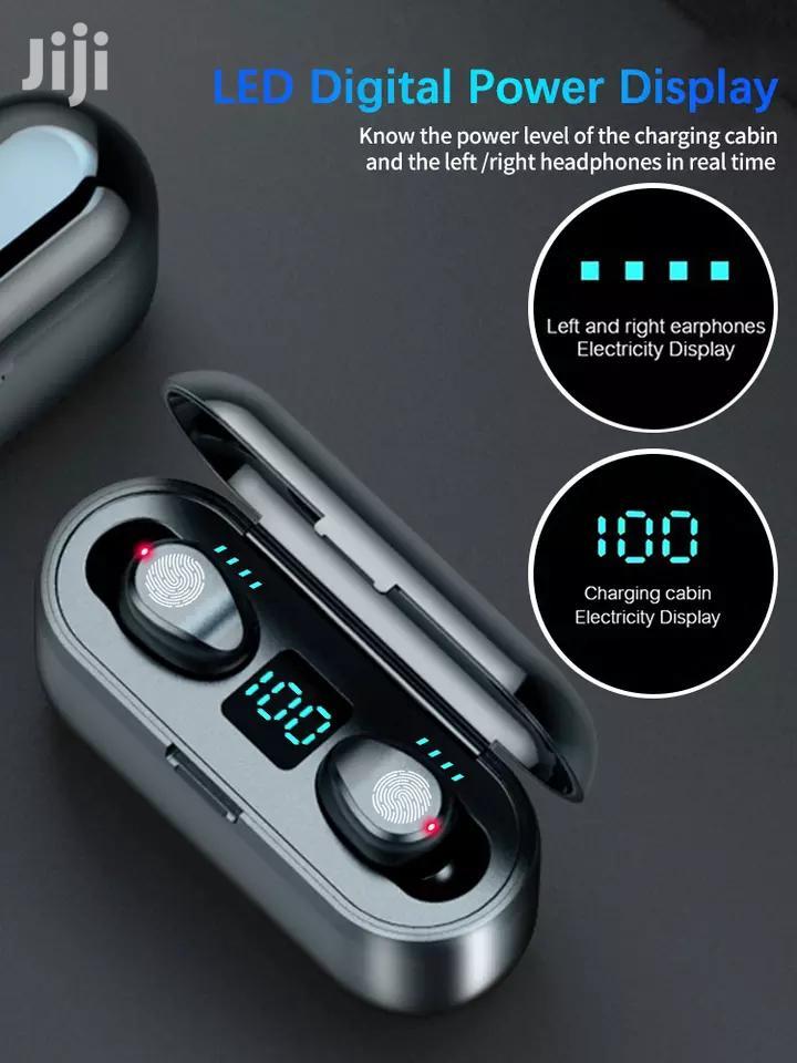 F9 TWS Bluetooth 5.0 Wireless Earphones Touch Control | Headphones for sale in Kinondoni, Dar es Salaam, Tanzania