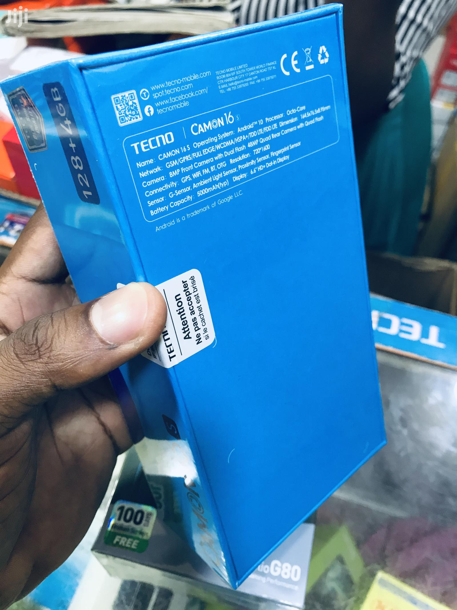 New Tecno Camon 16S 128 GB | Mobile Phones for sale in Kinondoni, Dar es Salaam, Tanzania