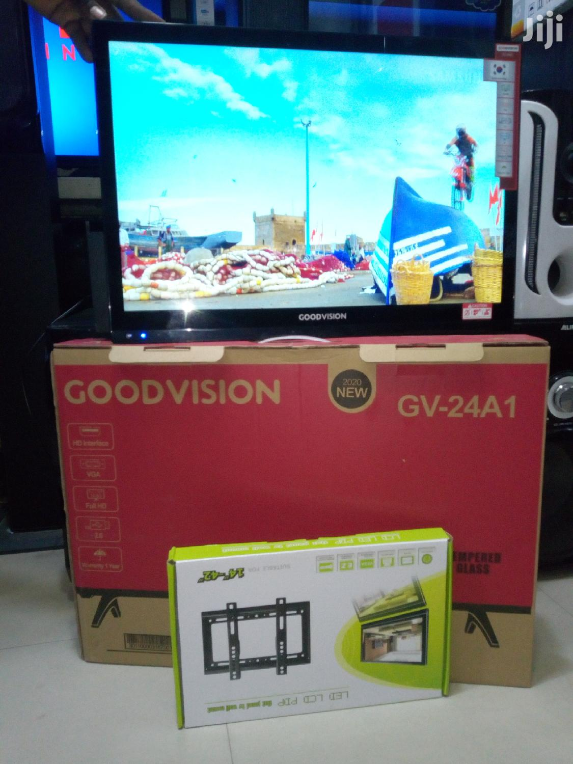 Good Vision LED TV Double Glass-Gv-24a1 | TV & DVD Equipment for sale in Ilala, Dar es Salaam, Tanzania