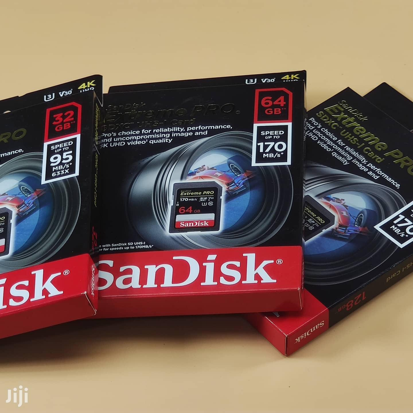 Sandisk Extreme PRO 128gb Sdxc Uhs-i Card - 4K Uhd, SD Card   Accessories & Supplies for Electronics for sale in Kinondoni, Dar es Salaam, Tanzania