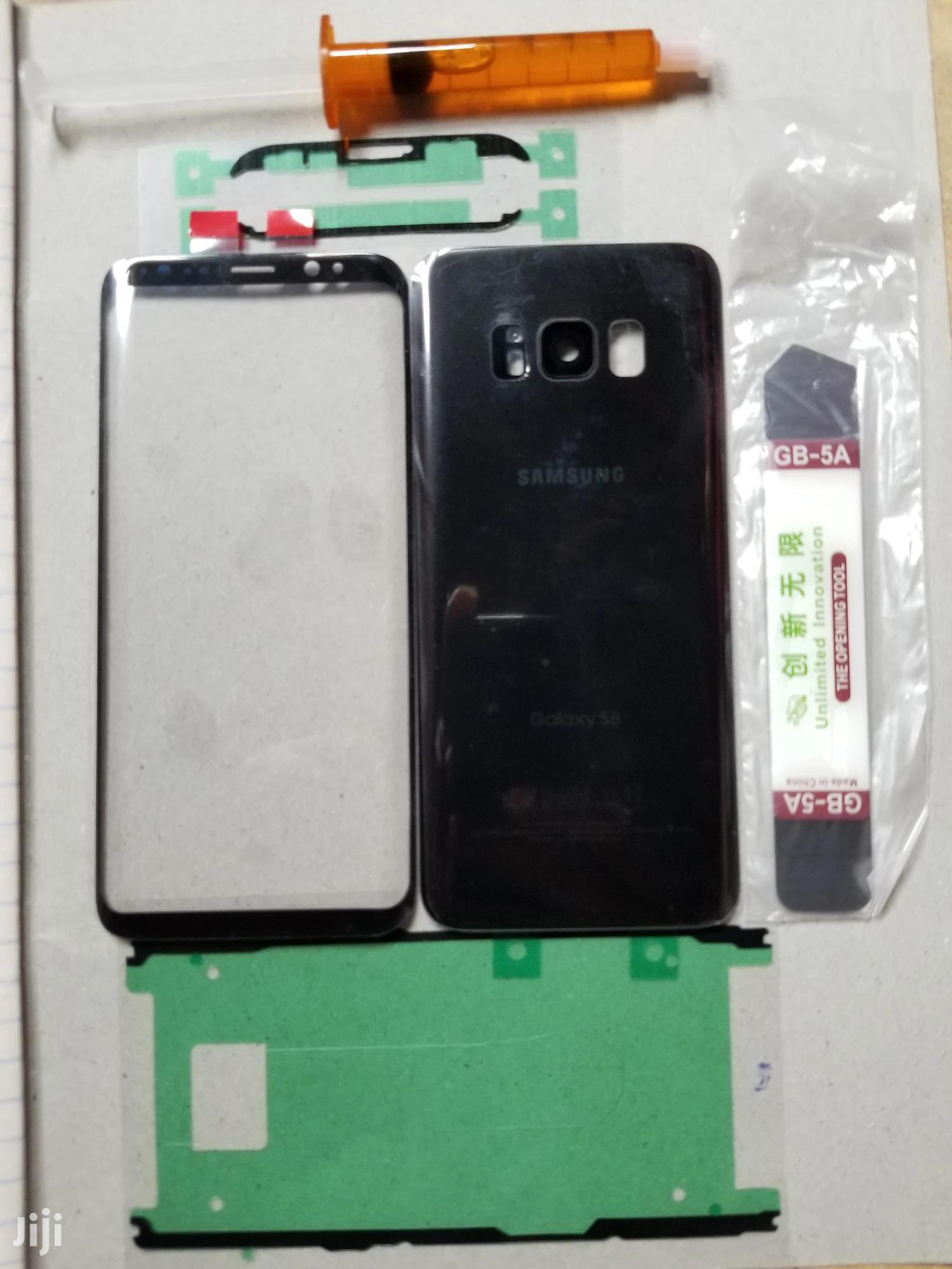 Samsung Galaxy S8 Front Screen Glass Lens and Back Glass