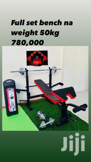 Combination Bench Press and 50kg Weight | Sports Equipment for sale in Dar es Salaam, Ilala