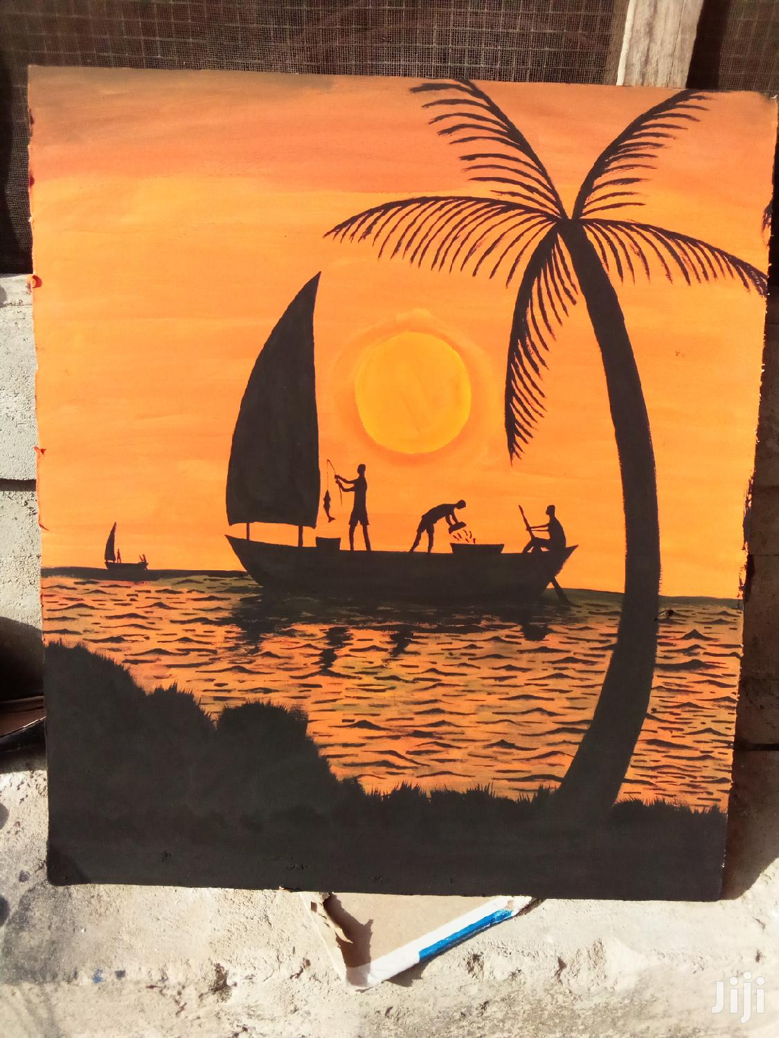 Archive: Sunset Sea Scape on Gypsum Board