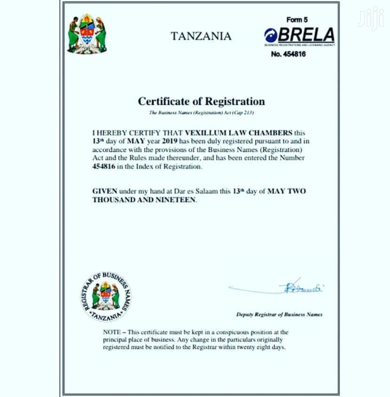 Kamilisha Usajili Wa Biashara Yako Brela | Other Services for sale in Dodoma Rural, Dodoma Region, Tanzania
