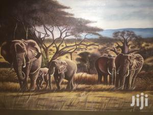 Oil Paintings Clear Elephant in Tarangire Inviroment | Arts & Crafts for sale in Arusha Region, Karatu
