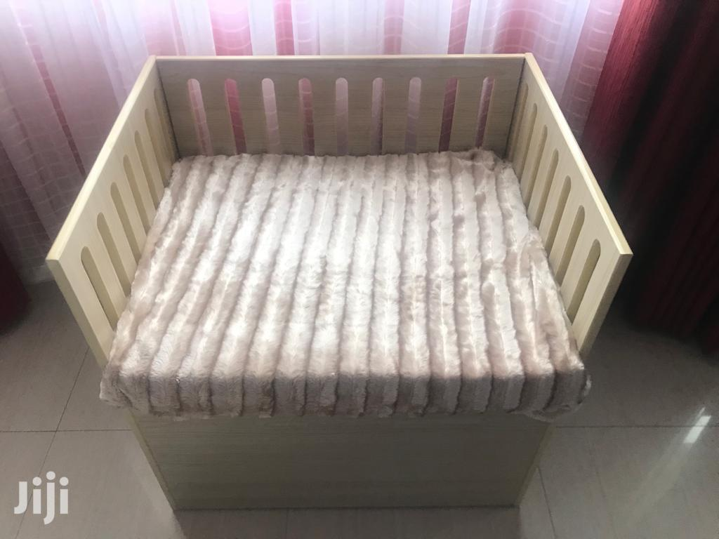 Archive: Baby Cot, Attaches With The Bed. Extra Storage Space Below
