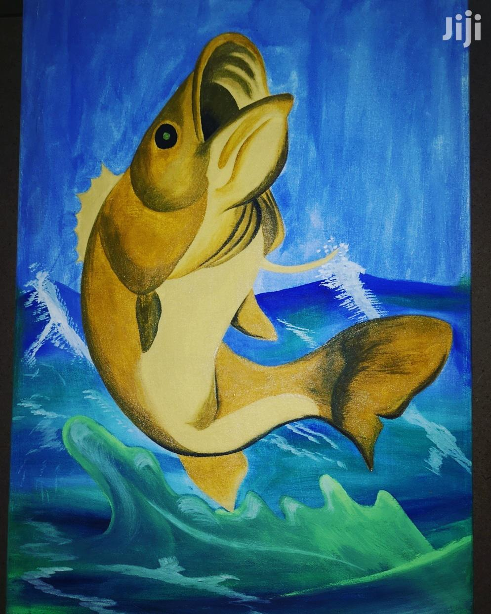 Archive: Canvas Painted Fish Art