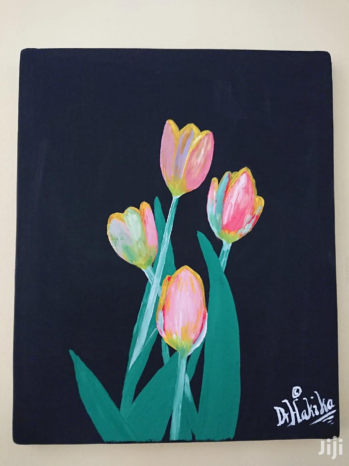 Archive: Flowers on Black Canvas