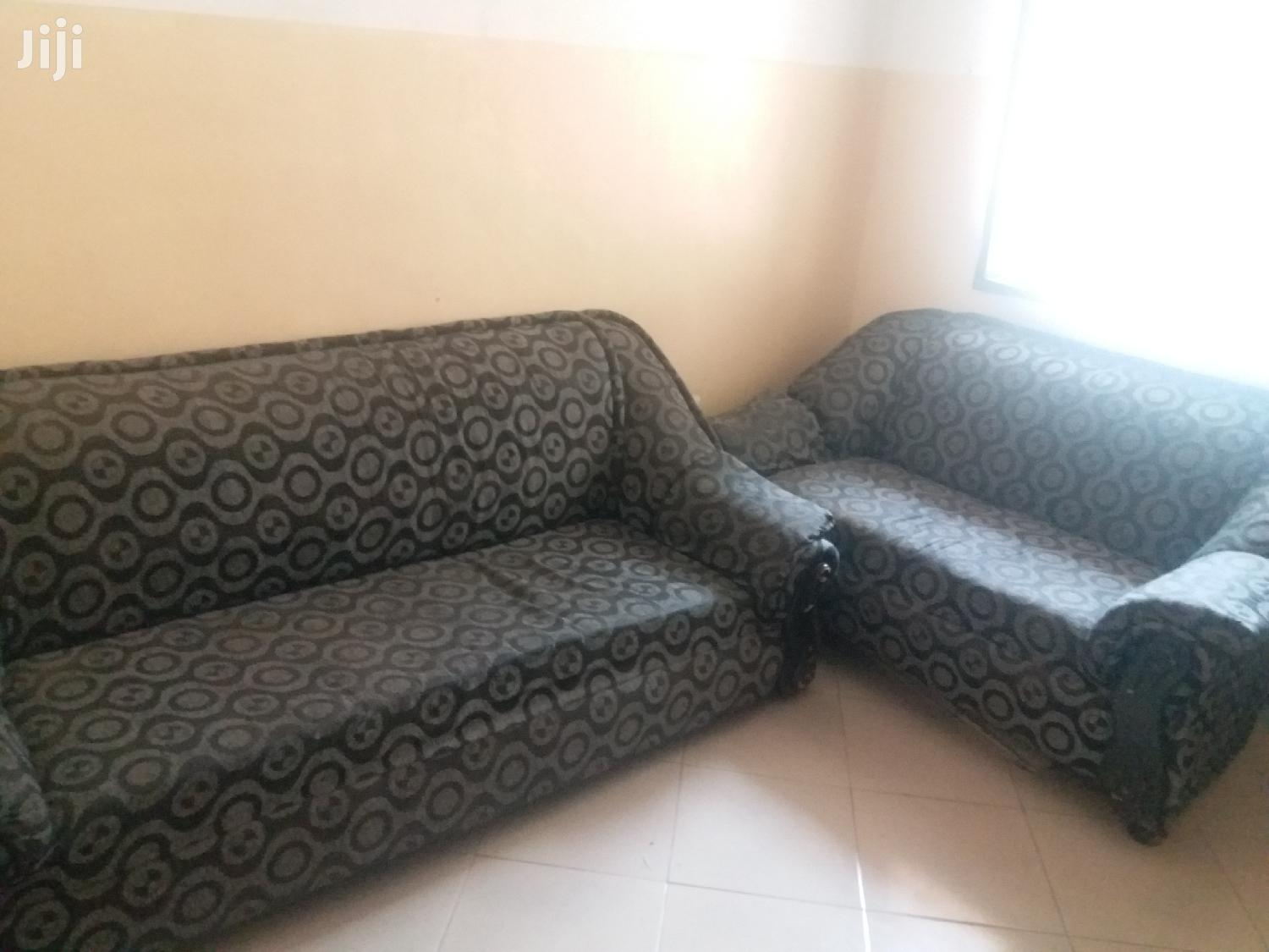Two Black And Gray Sofas