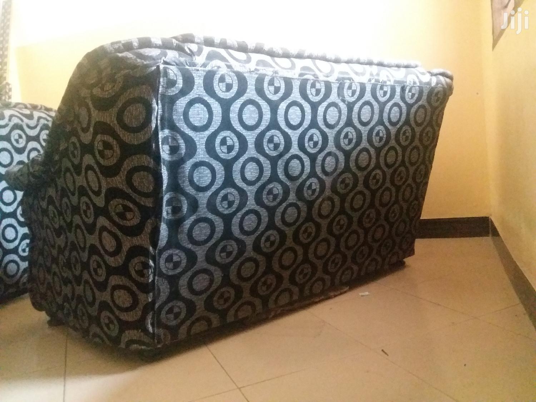 Two Black And Gray Sofas | Furniture for sale in Kinondoni, Dar es Salaam, Tanzania