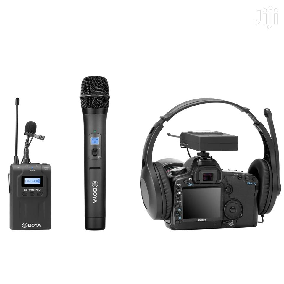 BOYA BY-WHM8 Pro Lavalier + Handheld Microphone UHF Wireless | Audio & Music Equipment for sale in Kinondoni, Dar es Salaam, Tanzania