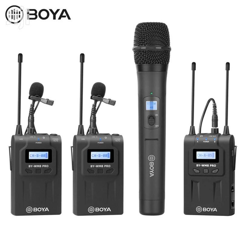 BOYA BY-WHM8 Pro Lavalier + Handheld Microphone UHF Wireless