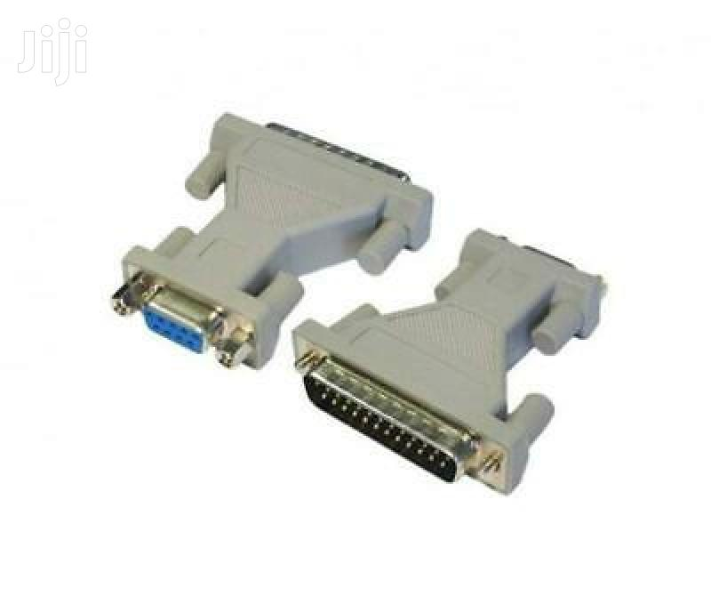 DB9 Female to DB25 Male Serial RS232 Adapter
