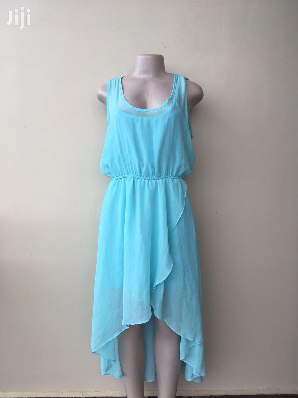 Aqua Blue High Low Dress
