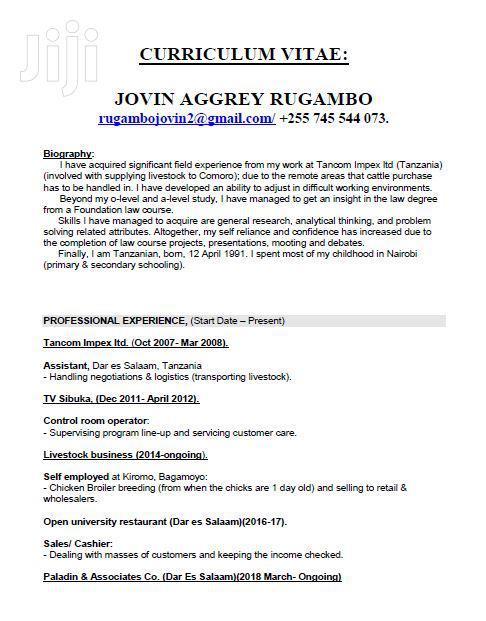 Advertising CV