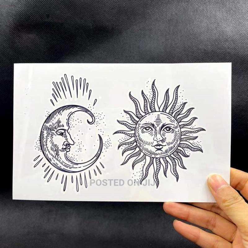 Archive: Sun And Moon Temporary Tattoo Waterproof And Temporary