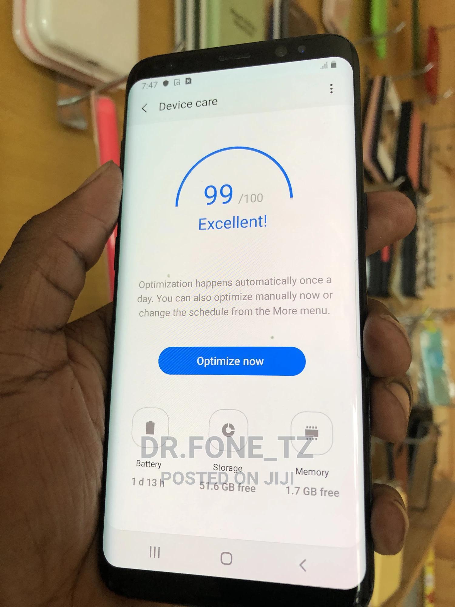 Samsung Galaxy S8 64 GB Black   Mobile Phones for sale in Kinondoni, Dar es Salaam, Tanzania