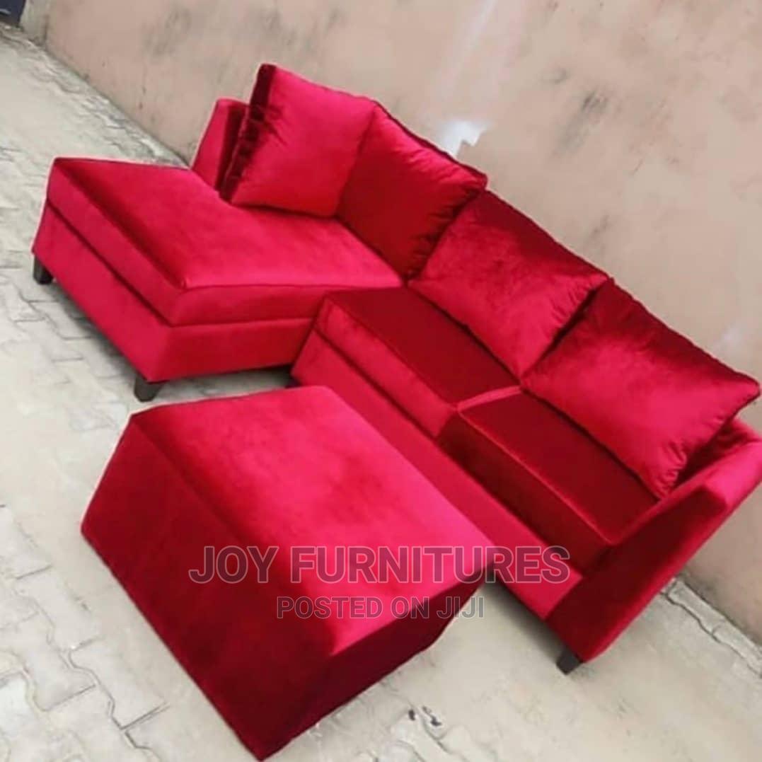 L Shape Sofas Red